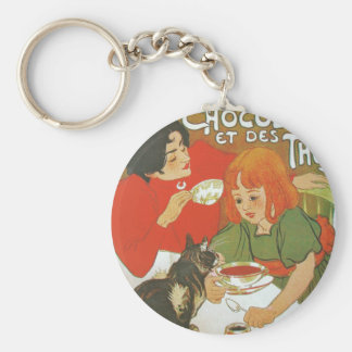 Vintage French illustration by Theophile Steinlen Keychains