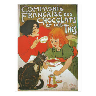 Vintage French illustration by Theophile Steinlen Postcard