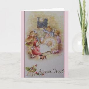 French christmas cards zazzle vintage french joyeux nol nativity christmas card m4hsunfo