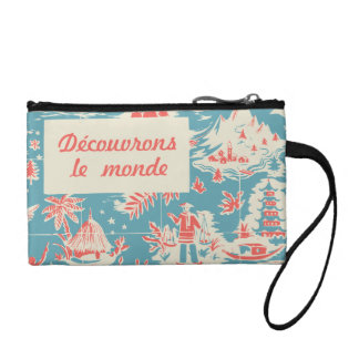 Vintage French Kids Book Cover Wristlet