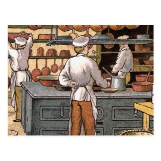 """Vintage French Kitchen"" Postcard"