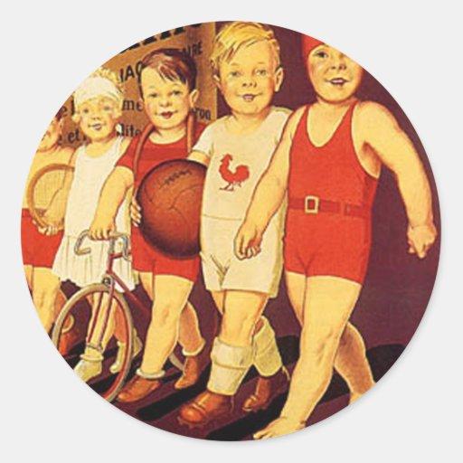 Vintage French, La bledine Round Sticker