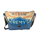 Vintage French Label Art Messenger Bag