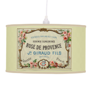 Vintage French Label Ceiling Lamp