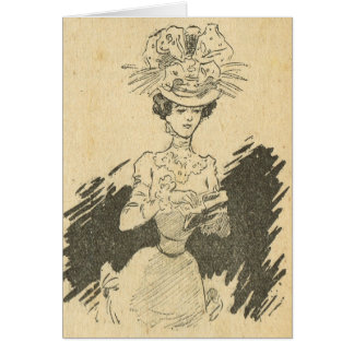 Vintage French, ladies of the Belle Epoque, Visit Card