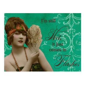 Vintage french lady photo postcard