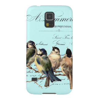 Vintage French Letter and Birds Galaxy S5 Cases