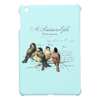 Vintage French Letter and Birds iPad Mini Covers