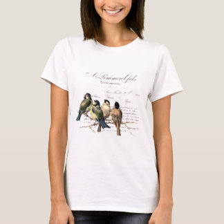 Vintage French Letter and Birds T-Shirt