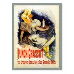 Vintage French liquor Punch Grassot Postcard