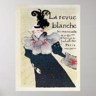 Vintage French literary magazine ad La Revue Blanc Poster