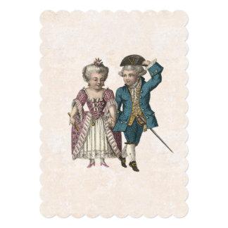 Vintage French Louis XVI Romantic Couple 5x7 Paper Invitation Card