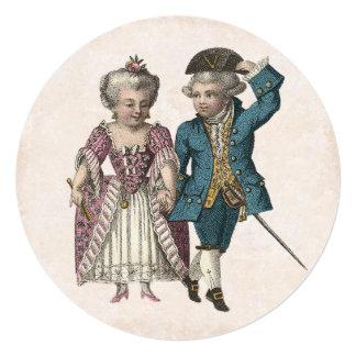 Vintage French Louis XVI Romantic Couple Invitation