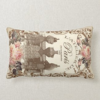 Vintage French Lumbar Pillow