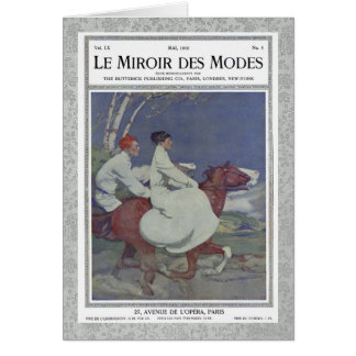 Vintage French Magazine Cover with Horse Riding Cards