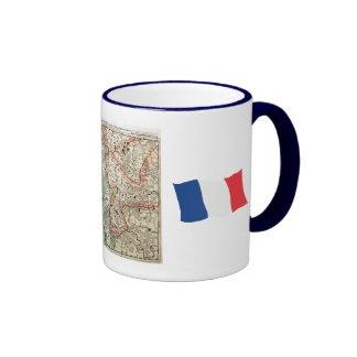 Vintage French Map, Charleville Mezieres,1745 Ringer Mug