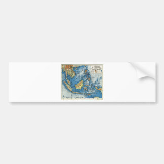 Vintage French map of Indonesia Car Bumper Sticker