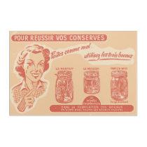 Vintage French Mason Jar Advertisement Acrylic Print