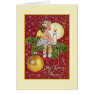 Vintage French Meilleurs Vœux Christmas Card