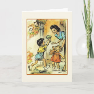 Vintage French Mother's Day Greeting Card