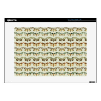 """Vintage French Moths Decal For 15"""" Laptop"""