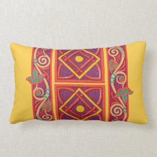 Vintage French Moyen Age Medieval Graphic Design Throw Pillow