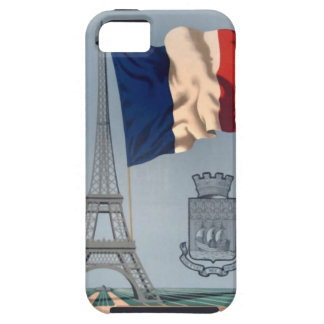 Vintage French National Flag & Eiffel Tower iPhone 5 Cover