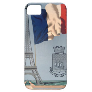 Vintage French National Flag & Eiffel Tower iPhone SE/5/5s Case