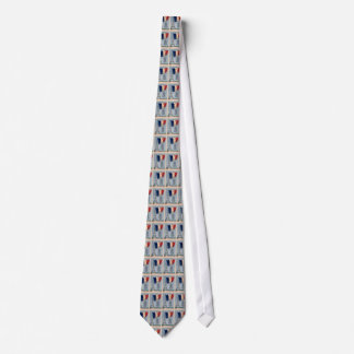 Vintage French National Flag & Eiffel Tower Tie