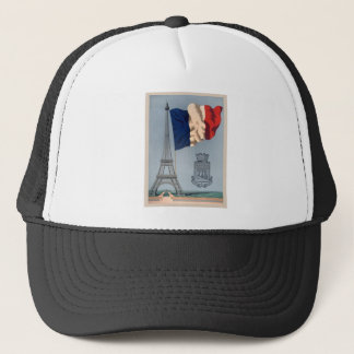 Vintage French National Flag & Eiffel Tower Trucker Hat