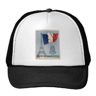 Vintage French National Flag & Eiffel Tower Trucker Hat
