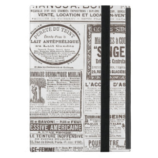 Vintage French Newspaper Ads Products for Women Covers For iPad Mini