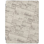Vintage French Newspaper Advertisements Pattern iPad Smart Cover