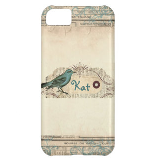 Vintage French Newspaper Bird iPhone 5 Cover