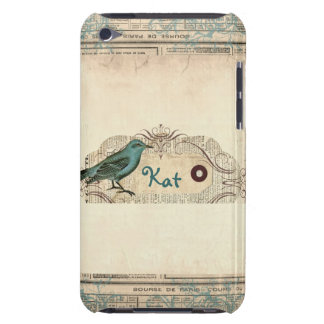 Vintage French Newspaper Bird iPod Touch Barely There iPod Cover