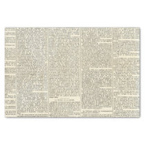 Vintage French Newspaper Tissue Paper