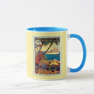 Vintage French ocean cruise travel advertising Mug
