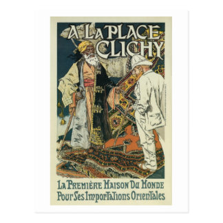 Vintage French Oriental Import business ad (1) Postcard