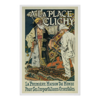 Vintage French Oriental Import business ad (1) Poster