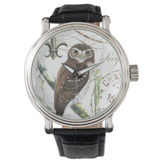 Vintage French owl watch