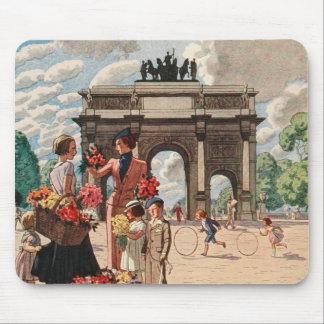 Vintage French Paris Arc de Triomphe du Carrousel Mouse Pad
