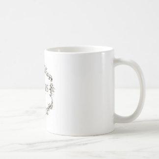"""Vintage French """"Paris"""" Medallion Classic White Coffee Mug"""