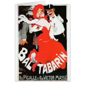 Vintage French Paris night life cabaret Bal Card