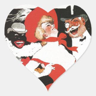 Vintage French Paris night life cabaret Bal Heart Sticker