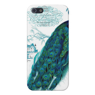Vintage French Peacock Print iPhone 5/5S Covers
