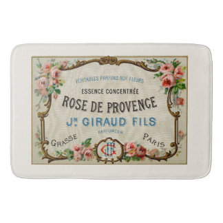 Vintage French Perfume Ad Art Bathroom Mat