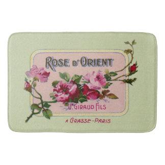 Vintage French Perfume Floral Ad Art Bath Mat