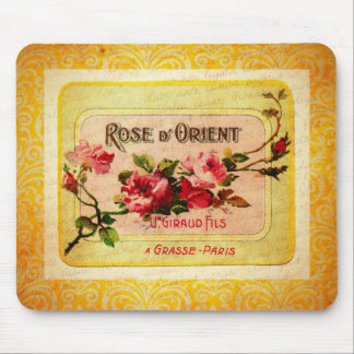 Vintage French Perfume Label Mouse Pad