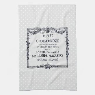 Vintage French Perfume Label Towel