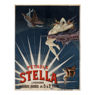 Vintage French Petrole Stella (Stella Gasoline) Poster